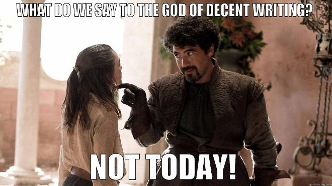 You tell 'em, Syrio!