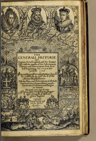 John Smith's The Generall Historie of Virginia, New England and the Summer Isles